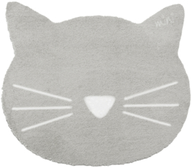 Vloerkleed Kinderkamer Cat Earnie Grey Mini collectie 70 x 80 cm