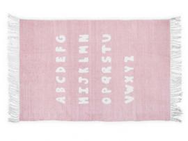 Vloerkleed Kinderkamer ABC Blush Pink Jollein