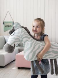 Knuffel Kussen Zebra Flamingo van Kidsdepot