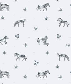 Kinderkamer Behang Playing Zebras