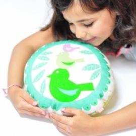 """Kussen Kinderkamer """"Tweet Tweet"""" van PinkNouNou"""