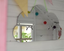Spiegel Kinderkamer Cloud Mirror Zilver