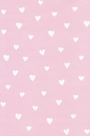 Behang Kinderkamer Roze met Witte Hartjes  van Inke