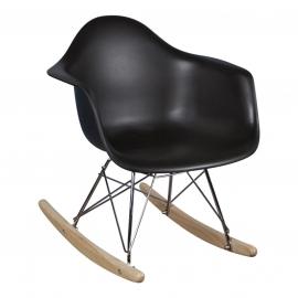 Schommelstoel voor kinderen Eames Junior Zwart