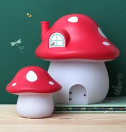 Nachtlampje Kinderkamer Paddenstoel Rood