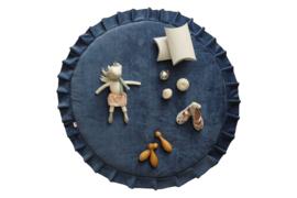 Speelmat Kinderkamer Velvet Donkerblauw