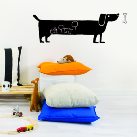 Muursticker Kinderkamer Chispum: Dog Blackboard