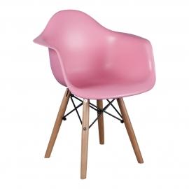 Kinderstoel Eames Junior Roze