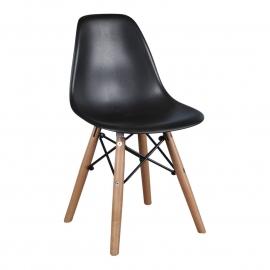 Kinderstoel Eames Zwart
