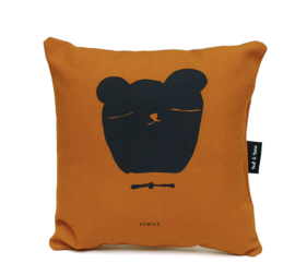 Kussen Kinderkamer Bear Smile Okergeel Ted & Tone