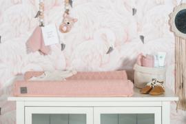 Waskussenhoes River Knit Pale Pink 50 x 70 cm Jollein