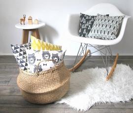 Kussen Kinderkamer Beren zwart/wit van Pöm Le Bonhomme