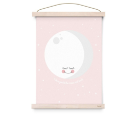 "Poster Kinderkamer ""I love you to the moon and back"" Pink Eef Lillemor"