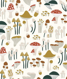 Wallpaper Seamless Pattern With Mushrooms Lilipinso