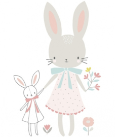 Muursticker Kinderkamer Rabbit XL van Lilipinso