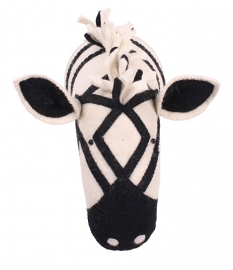 Kidsdepot Dierenkop Zoo Zebra Black & White