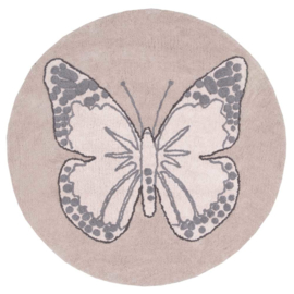 Vloerkleed Kinderkamer Butterfly Nude