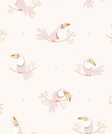 Wallpaper  Seamless Pattern with Pastel Toecans Lilipinso