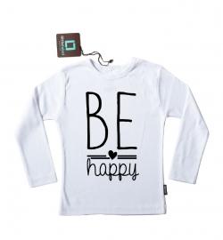 Strijkapplicatie 'Be Happy' van Pimp-Studio