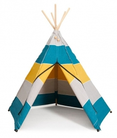 Hippie Tipi Tent / Speeltent Polar Petrol van Roommate