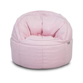 Fauteuiltje Beanbag rond Canvas Pink Jollein