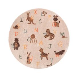 Rond Kinderkamer Vloerkleed Animals