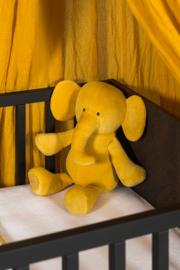 Knuffel Elephant Mustard Velvet Jollein