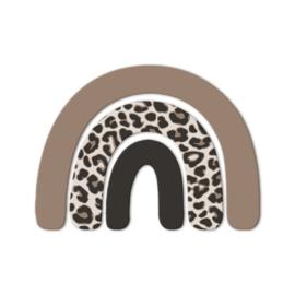 Wandfiguur Kinderkamer Regenboog Leopard