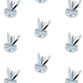 Behang Kinderkamer Bunny Zachtblauw