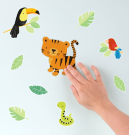 Muurstickers Kinderkamer Jungle tijger A Little Lovely Company