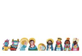 Nativity Set Petit Monkey Houten Kinderkamer Accessoires