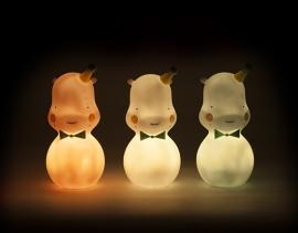 Hippo nachtlampje wit Eef Lillemor