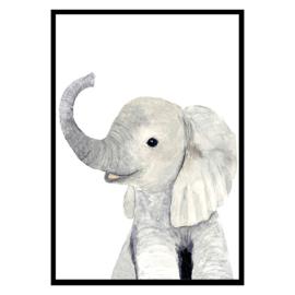 Kinderkamer Poster Baby Olifant A3