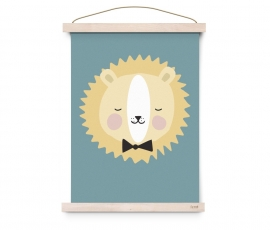 "Poster Kinderkamer ""Friendly Lion"" Eef Lillemor"