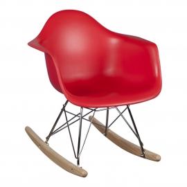 Schommelstoel voor kinderen Eames Junior Rood