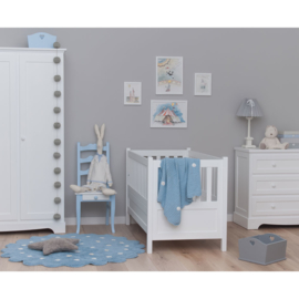 Vloerkleed Kinderkamer Roundy Biscuit Blue