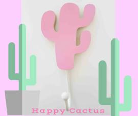 Wandhaakje kinderkamer Happy Cactus Roze