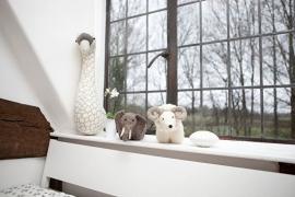 Dierenkop Zwaan met print van Fiona Walker