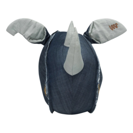 Dierenkop Kinderkamer Rhino Denim Stapelgoed