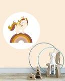 Muurcirkel Kinderkamer Unicorn Ochre