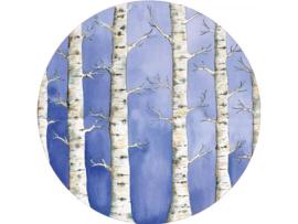 Hartendief Witte Woud behang cirkel