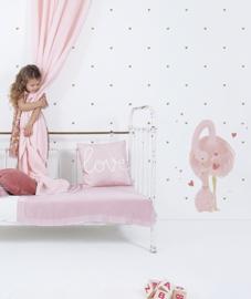 Muursticker Kinderkamer XL Mom and Baby Struisvogel