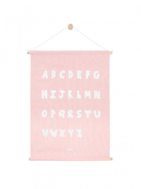 Poster Canvas ABC Blush Pink 42 x 60 cm Jollein
