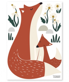 Muurstickers Kinderkamer Fox Family