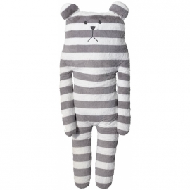 Knuffel Craftholic Bear XL Grey Stripes 100 cm