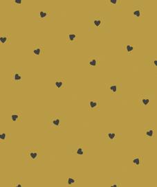 Behang Kinderkamer Black Hearts Mustard Lilipinso