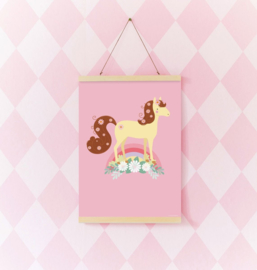 Kinderkamer Poster Lovely paard A Little Lovely Company