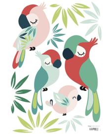 Muurstickers Kinderkamer Parrots Lilipinso