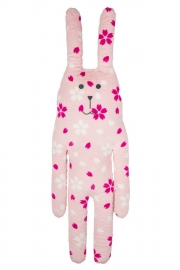 Knuffel Craftholic Bunny XL Pink Flowers 111 cm