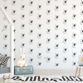 Behang Kinderkamer Bunny Black-White